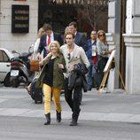 Soraya Arnelas y Miguel Herrera paseando por Madrid
