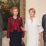 La Reina Sofía y Carmen Cervera en el 20 aniversario del Museo Thyssen