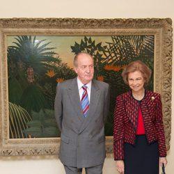 Los Reyes Juan Carlos y Sofía en el 20 aniversario del Museo Thyssen-Bornemisza