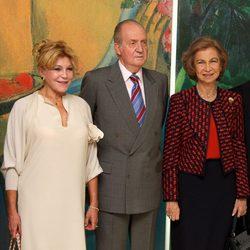 Carmen Cervera y los Reyes Juan Carlos y Sofía en el 20 aniversario del Museo Thyssen-Bornemisza