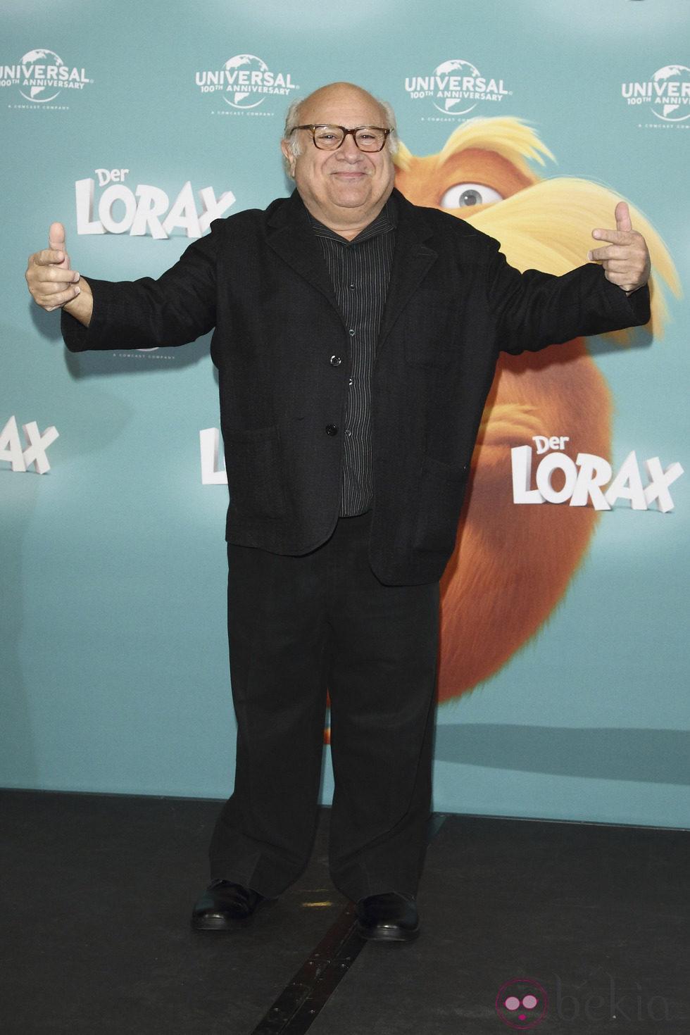 Danny Devito en la presentación de la película Lorax