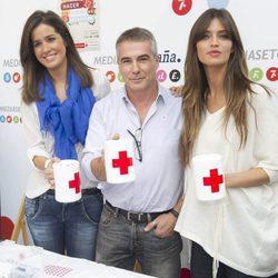 Isabel Jiménez, David Cantero y Sara Carbonero el Día de la Banderita 2012