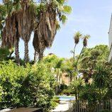 Vistas del jacuzzi y la piscina de la casa de 'Gandía Shore'