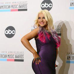 Christina Aguilera posa divertida en el photocall