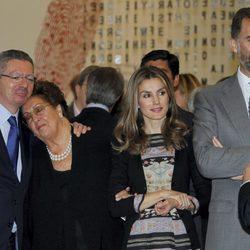 Alberto Ruiz Gallardón y los Príncipes de Asturias en la inauguración de la Casa del Lector