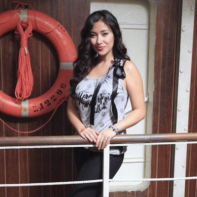 Giselle Calderón en la presentación de la tercera temporada de 'El Barco'