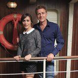 Irene Montalà y Juanjo Artero en la presentación de la tercera temporada de 'El Barco'