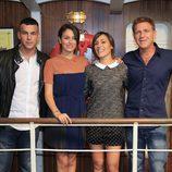 Mario Casas, Blanca Suárez, Irene Montalà y Juanjo Artero en la presentación de la tercera temporada de 'El Barco'