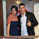 Mario Casas y Blanca Suárez en la presentación de la tercera temporada de 'El Barco'