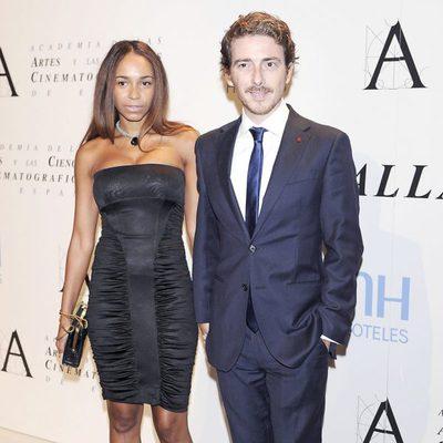 Víctor Clavijo y Montse Pla en la entrega de la Medalla de Oro de la Academia de Cine 2012