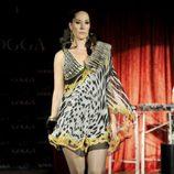 Chayo Mohedano desfilando en la presentación de la tienda on line de Tamara Gorro