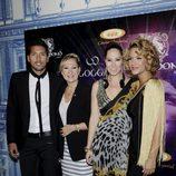 Rosa Benito y Chayo Mohedano con Tamara Gorro y Ezequiel Garay en la presentación de la tienda on line de 'GOGGA'