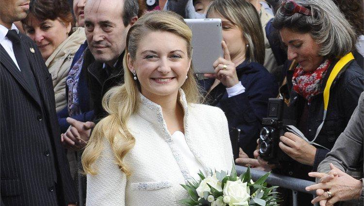 Stéphanie de Lannoy en su boda civil
