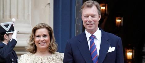 Los Grandes Duques de Luxemburgo tras la boda civil de Guillermo y Stéphanie