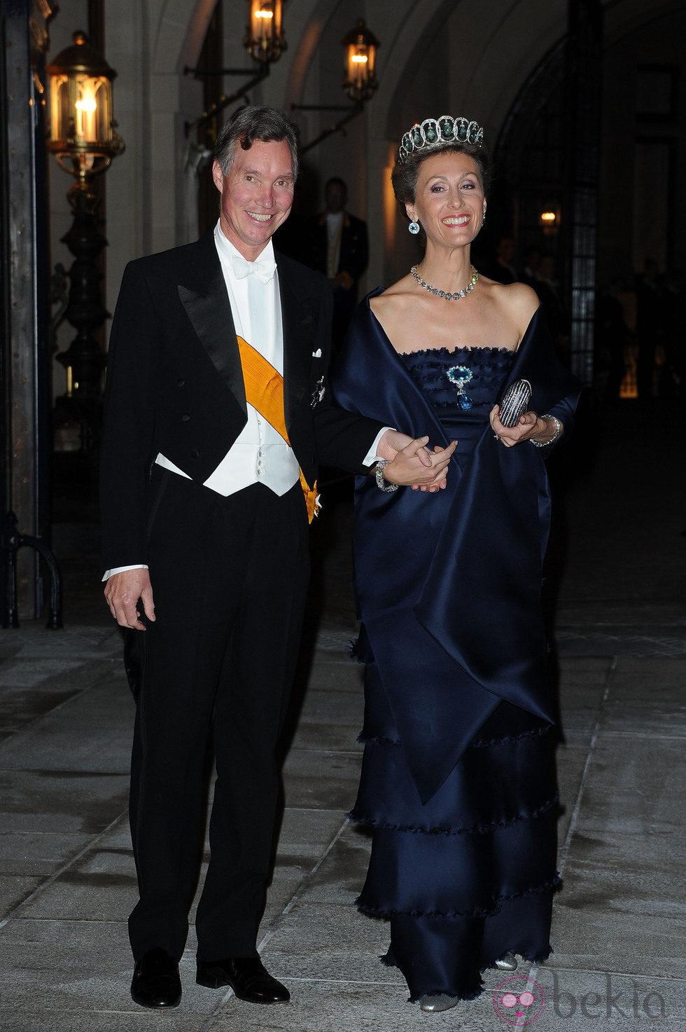Guillermo y Sibilla de Luxemburgo en la cena de gala previa a la boda de Guillermo y Stéphanie