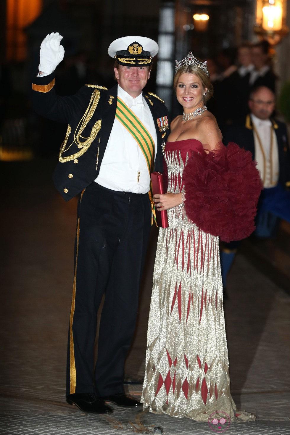 Guillermo y Máxima de Holanda en la cena de gala previa a la boda de Guillermo y Stéphanie