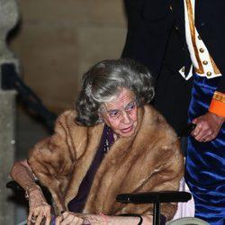 La Reina Fabiola de Bélgica en la cena de gala previa a la boda de Guillermo y Stéphanie