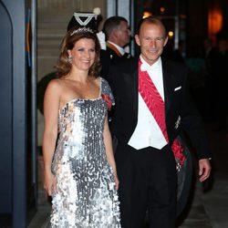 Marta Luisa de Noruega y Kyril de Bulgaria en la cena de gala previa a la boda de Guillermo y Stéphanie
