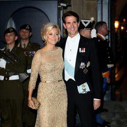 Pablo y Maria Chantal de Grecia en la cena de gala previa a la boda de Guillermo y Stéphanie