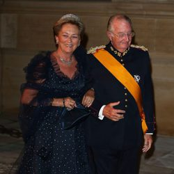 Los Reyes de Bélgica en la cena de gala previa a la boda de Guillermo y Stéphanie