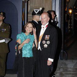 Los Reyes de Bulgaria en la cena de gala previa a la boda de Guillermo y Stéphanie