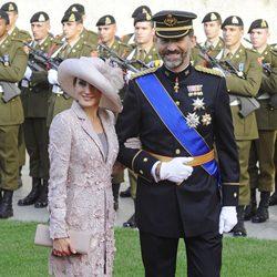 Los Príncipes Felipe y Letizia en la boda de Guillermo de Luxemburgo y Stéphanie de Lannoy