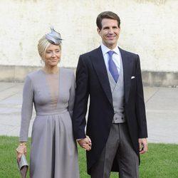 Pablo y Marie Chantal de Grecia en la boda de Guillermo y Stéphanie de Luxemburgo