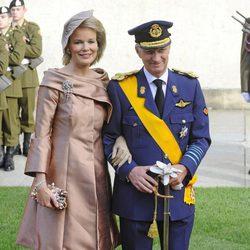 Felipe y Matilde Bélgica en la boda de Guillermo y Stéphanie de Luxemburgo
