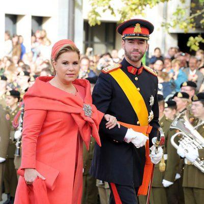 Guillermo de Luxemburgo llega a su boda con la Gran Duquesa María Teresa