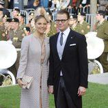Victoria y Daniel de Suecia en la boda de Guillermo y Stéphanie de Luxemburgo