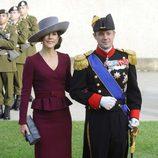 Federico y Mary de Dinamarca en la boda de Guillermo y Stéphanie de Luxemburgo