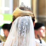 Velo del vestido de novia de Stéphanie de Lannoy en su boda con Guillermo de Luxemburgo
