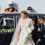 Vestido de novia de Stéphanie de Lannoy en su boda con Guillermo de Luxemburgo