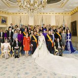 Guillermo y Stéphanie de Luxemburgo con las Casas Reales invitadas a su boda