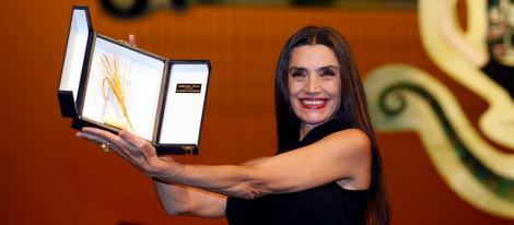 Ángela Molina recoge la Espiga de Honor del Festival de Cine de Valladolid 2012