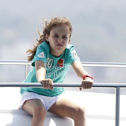 Victoria de Marichalar en el primer día de regatas de la Copa del Rey de Vela 2011