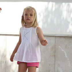 La Infanta Sofía en el segundo día de regatas de la Copa del Rey de Vela 2011