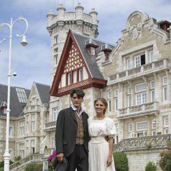 Yon González y Amaia Salamanca presentan 'Gran Hotel' en Santander