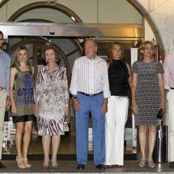 La Familia Real Española en la cena del 30º Aniversario de la Copa del Rey de Vela