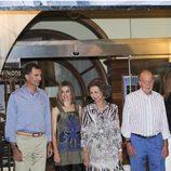 Los Reyes y los Príncipes de Asturias en la cena del 30º Aniversario de la Copa del Rey de Vela