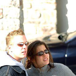 Carlota Casiraghi y su novio de vacaciones en Zurs en 2002