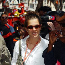 Carlota Casiraghi en el Gran Premio de Mónaco de 2002
