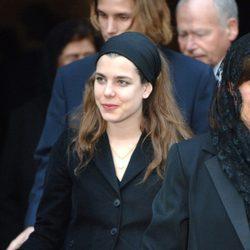 Carlota Casiraghi en los funerales del Papa Juan Pablo II en 2005