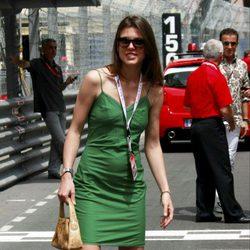 Carlota Casiraghi en el Gran Premio de Fórmula 1 de Mónaco en 2009