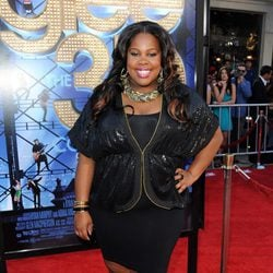 Amber Riley en el estreno de 'Glee: The 3D Movie Concert'