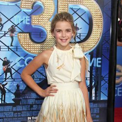 Kiernan Shipka, de 'Mad men', en la première de 'Glee: The 3D Concert Movie'