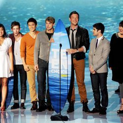 El reparto de 'Glee' en la gala de entrega de los Teen Choice Awards 2011