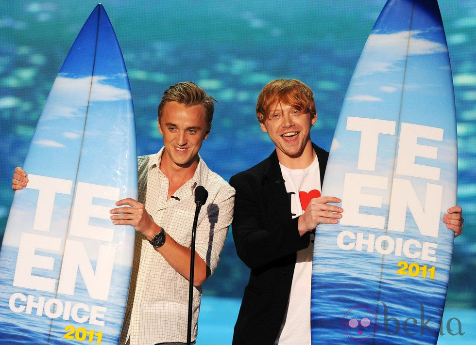 Tom Felton y Rupert Grint en los Teen Choice Awards 2011