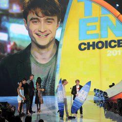 Daniel Radcliffe premiado junto a Tom Felton y Rupert Grint en los Teen Choice Awards 2011
