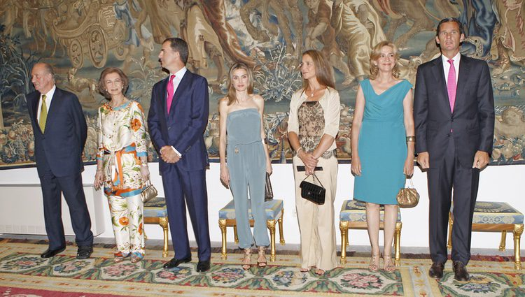 La Familia Real en la cena de autoridades en Mallorca